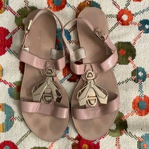 Zara Pink and Gold Bug Sandals